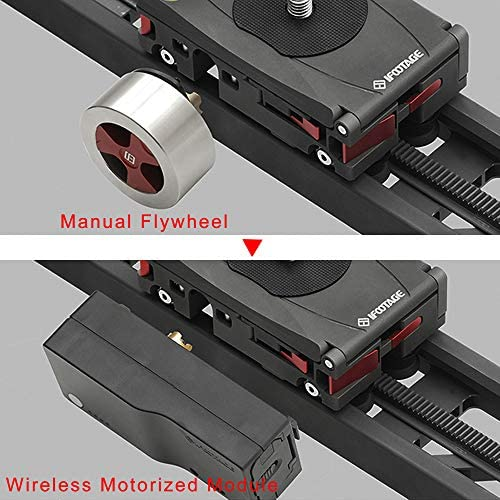 Wireless Motorized Camera Slider Dolly 33inch Electric Photography Slider Tracker Silent Motor Camcorder Tracking Video Shooting Follow Focus IFOOTAGE Shark Slider Mini with Backpack