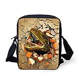 Showudesigns Cute Dinosaur Cross Body Bags Women's Kids Sport Travel Handbags