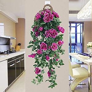 Forart Artificial Wisteria Long Hanging Bush Flowers Bougainvillea Hanging Basket Decorative Silk Plant for Home Wedding Decoration Arrangement 5