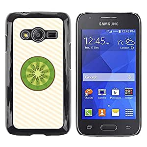 Shell-Star Arte & diseño plástico duro Fundas Cover Cubre Hard Case Cover para Samsung Galaxy Ace4 / Galaxy Ace 4 LTE / SM-G313F ( Minimalist Kiwi Fruit Slice )
