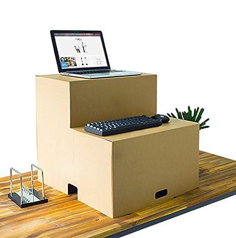 Amazon Com Paper Maker Cardboard Foldable Standing Desk For Office
