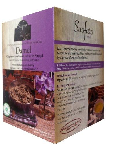Saafara Herbal Teas, Damel, 15 Biodegradable Pyramid Tea Bags, Raat Leaves