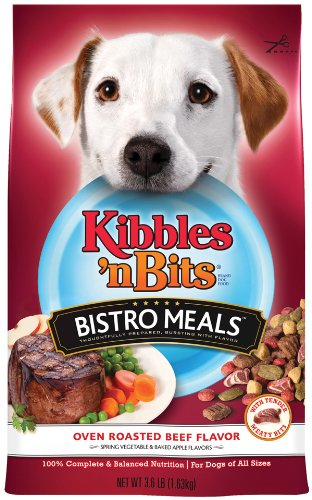 Kibbles 'n Bits Bistro Meals Oven Roasted Beef for Dogs, 3.6-Pound, My Pet Supplies