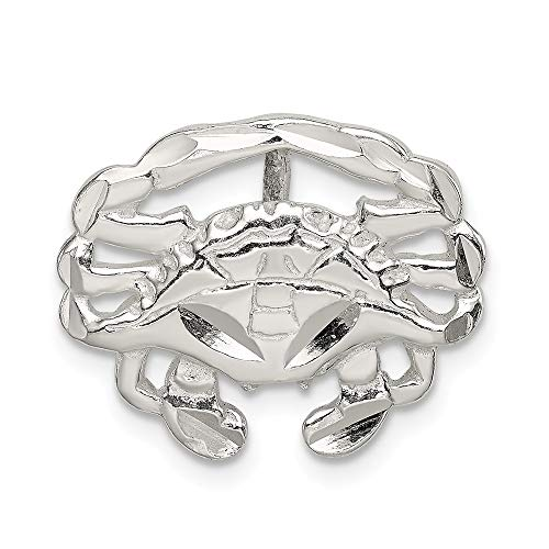 - 925 Sterling Silver Crab Slide Pendant Charm Necklace Sea Life Lobster Fine Jewelry Gifts For Women For Her