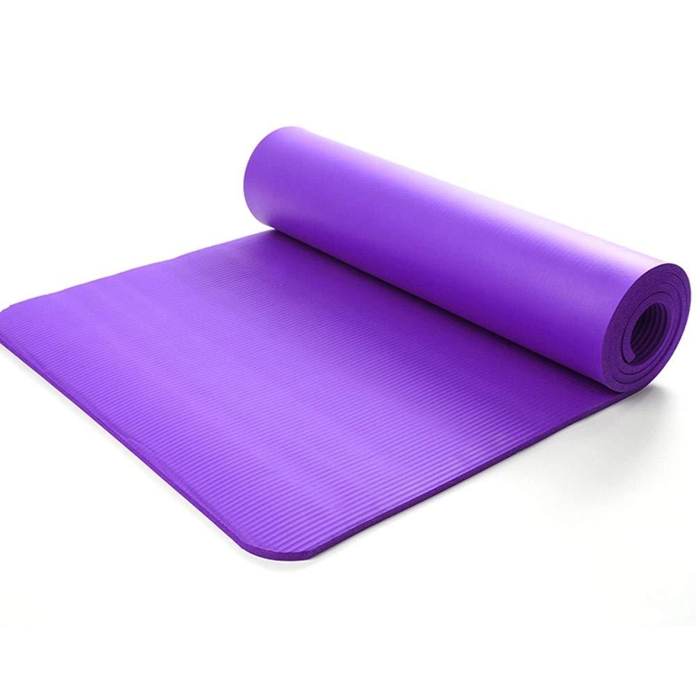 LETAMG Yogamatte Nbr-Schaum-Yoga-Matte, Rutschfeste Turnhalle, Familien-Sport-Eignung, Pilates-Sport-Matten-Trainingsmatte, weibliche Eignungs-Ausrüstung