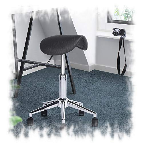 Aingoo Saddle Stool, Professional Height Adjustable Hydraulic Swivel Spa Stool Massage Chair with Wheels