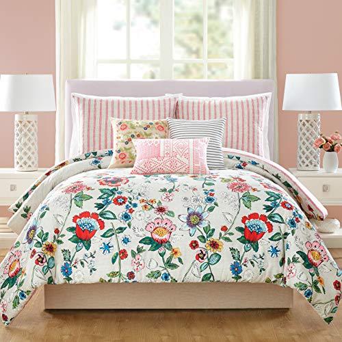 Vera Bradley Coral Floral Comforter, Full Queen, Pink