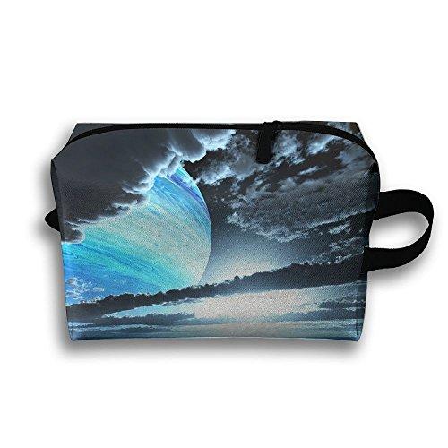 Cosmetic Bag Planet Clouds Ocean Makeup Organizer Pouch Zipp
