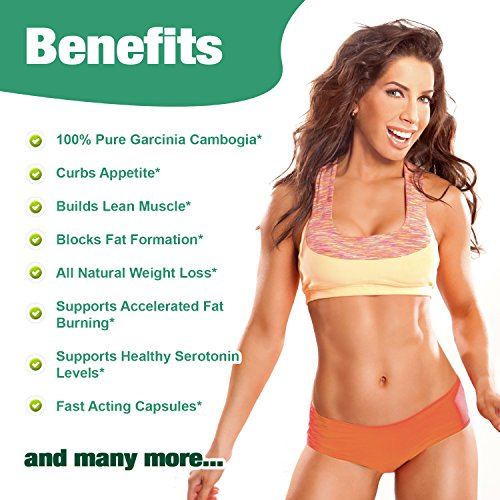 100 Pure Garcinia Cambogia Extract With 80 Hca Weight Loss Diet Pills For Women And Men