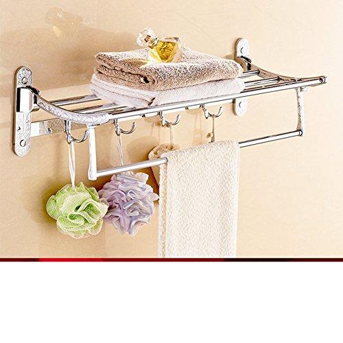 60%OFF towel rack/Stainless steel bath Towel rack/Bathroom folding racks/ bathroom accessories-H