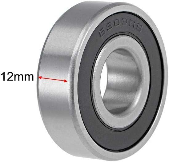 6203-16-2RS Rodamientos r/ígidos de bolas de 16 mm de di/ámetro interior 40 mm de di/ámetro exterior de 12 mm de di/ámetro interior de acero cromado de doble sellado Z2