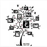 TXIN Funny Family Photo Frame Tree Butterfly Flower Mural Wall Sticker Home Decor