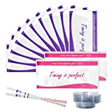 Baby : Newbornty 50 Ovulation Test Strips and 20 Pregnancy Test Strips With 70 Urine Cup and 1 Testing Card, (50 LH + 20 HCG)