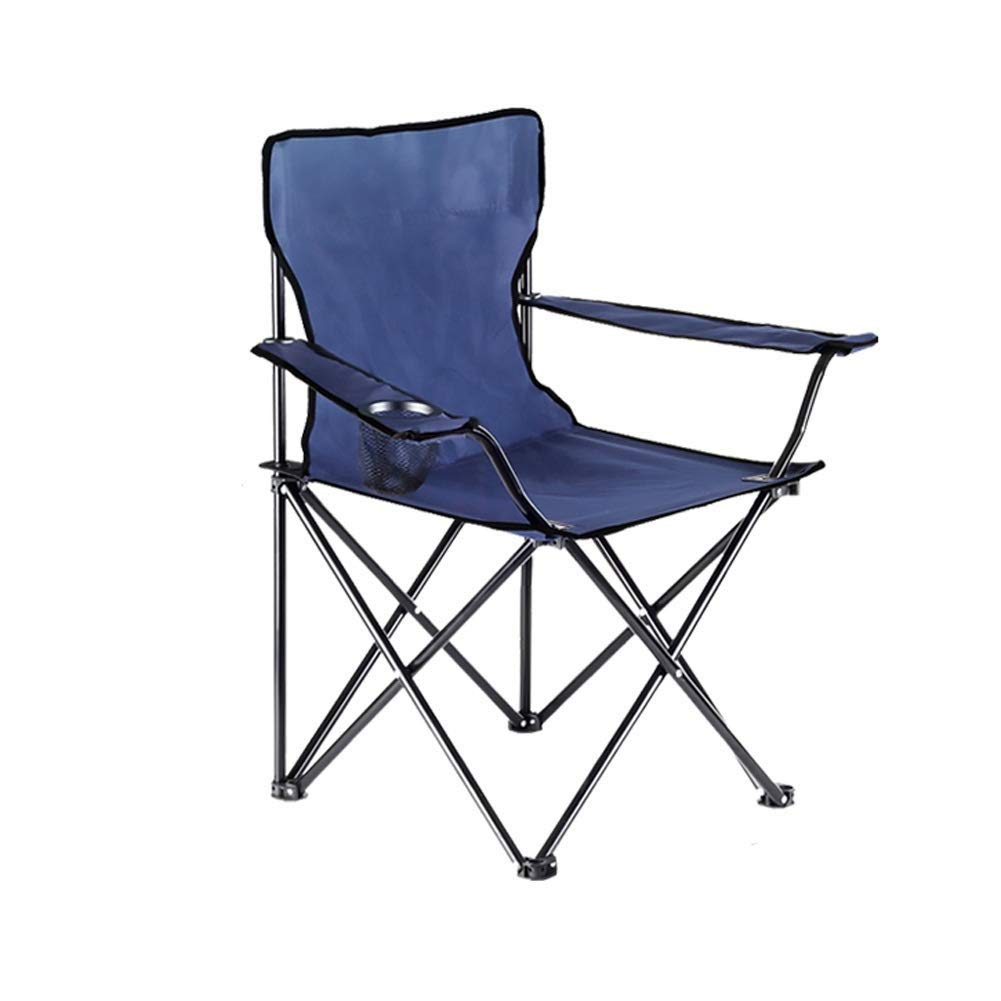 A Folding Camping Chairs with Cup Holder Heavy Duty High Back Portable Beach Fishing Seat,2 color (color   B)