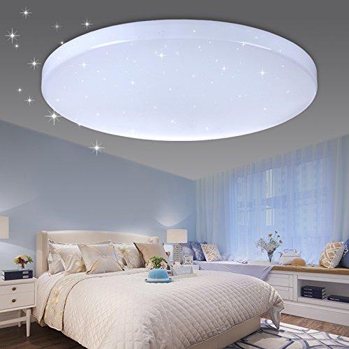 Beleuchtung Sternenhimmel | Vingo Led Deckenleuchte Sternenhimmel Effekt 50w Kaltweiss Rund F450