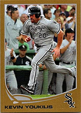 8cb8cac9a Amazon.com  2013 Topps Gold  20 Kevin Youkilis NM-MT 38 2013 White ...