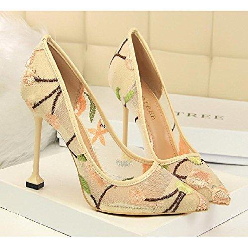 GAOLIM Zapatos De Mujer Zapatos De Mujer En El Sello De Primavera Zapatos De Tacón Femenino Urbano Único Señaló Zapatos De Mujer Zapatos De Mujer El Oro