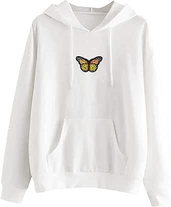 TECREW Women's Long Sleeve Cat Hoodies Cat Ear Pullover Hooded Sweatshirt with Kangaroo Pocket