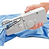 AMOS Mini Stitch Handheld Cordless Portable Travel Clothes Fabric Curtains Lightweight Craft Sewing Machine Battery or Mains with Extra Bobbin & Needle & Threader