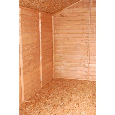 Oxford: 8 Ft x 6 ft lengua sin ventanas y GROOVE Apex cobertizo con puerta grande (sólido 10 mm OSB suelo)) * * Extended entrega Normalmente 10 días de ...