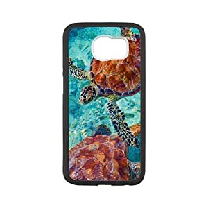 Case for Samsung Galaxy S6, Sea Turtles Swim Beautiful Figure Case for Samsung Galaxy S6, Sexyass White