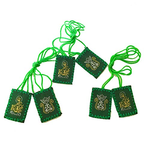 (Green Scapular Embroidered | Immaculate Heart of Mary | Green 3)
