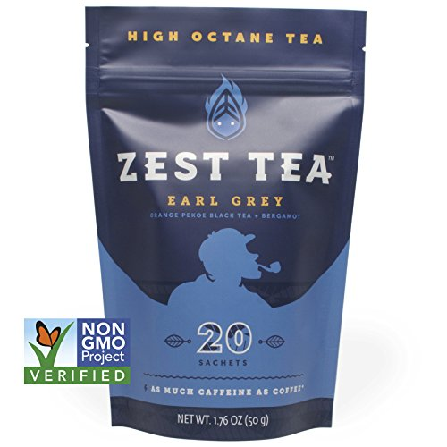 Price comparison product image Earl Grey Black Energy Tea - Natural and Healthy Coffee Substitute - 150 mg caffeine per cup (20 Bags) (50 g)