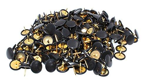 Push Pins, 300pcs 3/8-Inch Plastic Round Head, 5/16-Inch Steel Point Thumb Tacks (Black) Photo #6