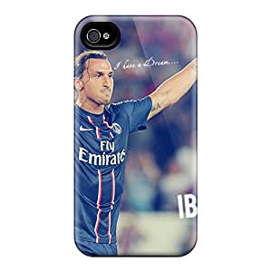 Bretprice ULn4980BiAG Protective Case For Iphone 4/4s(the Player Of Psg Zlatan Ibrahimovic After The Victory)