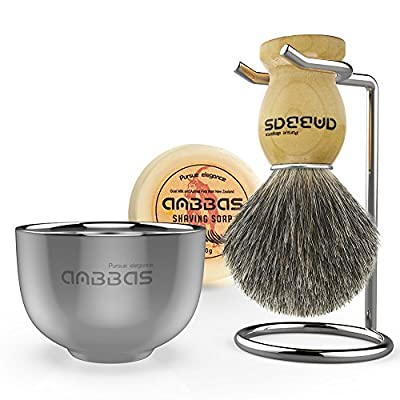 Shave Brush Badger Hair Set by Anbbas from Anbbas