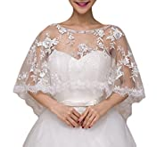 Vweil Wdding Bolero Shrug Wraps Sheer Lace Shoulder Covers For Bride J4