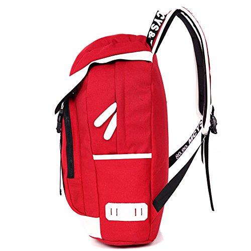 CLCOOL Bergsteigen-TascheWandern rucksack outdoor Klettern Bergsteigen Reisen Camping wasserdichte Unisex Multifunktions Taschen mit Laptop , rot
