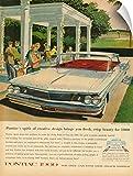Canvas On Demand Wall Peel Wall Art Print entitled Pontiac 1960 Automobile Advertisement