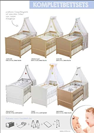 ... cuna lacada en blanco, incluye funda de nordico, protector de cuna, dosel y colchón, cuna de 70x140cm transformable en cama infantil.: Amazon.es: Bebé