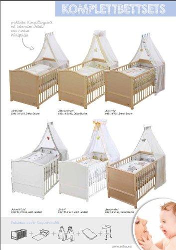Roba Komplettbett Set Adam Eule Babybett Weiss Inkl Bettwasche Himmel Nest Matratze Kombi Kinderbett 70x140cm Umbaubar Zum Junior Bett Amazonde