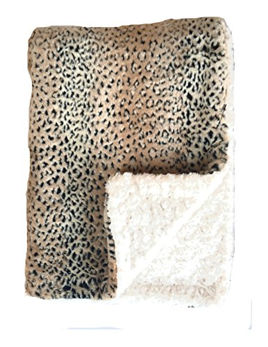 Small Faux Fur (GoodDogBeds 15 by 18-Inch Faux Fur BaaBaa Dog Blanket, Small, Cheetah)