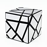 Ting-W® Magic Cube Puzzle &Twisty Puzzle toys, Ghost Cube 3x3 Black /Sliver Sticker Finished