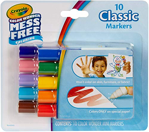 Crayola color wonder mess free coloring 10 classic markers -