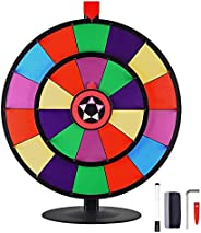 """WinSpin 24"""" Tabletop Spinning Prize Wheel Dual Wheels Editable Dry Erase Color Slot Tradeshow Fortune Spi"""