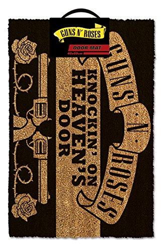 GIUCAR Guns N 'Roses Knocking on Heaven, zerbino, Fibra di Cocco, Nero, 60x 40x 1.5cm GP85164 Gadget
