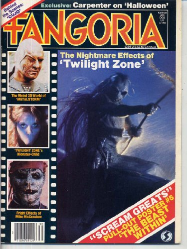 Fangoria Magazine 30 THE TWILIGHT ZONE Cujo JOHN CARPENTER Beast Within VAMPIRA INTERVIEW Halloween VINCENT PRICE October 1983 C ()