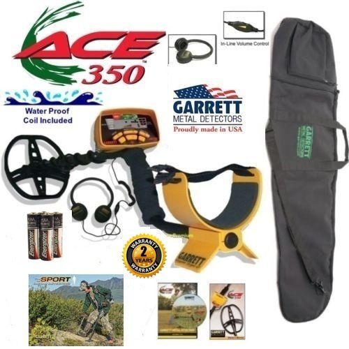 - Garrett Ace 350 Metal Detector Discover Package with 50