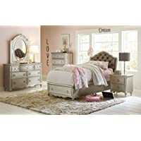 Pulaski Sterling Youth Upholstered Bed with Storage, Twin