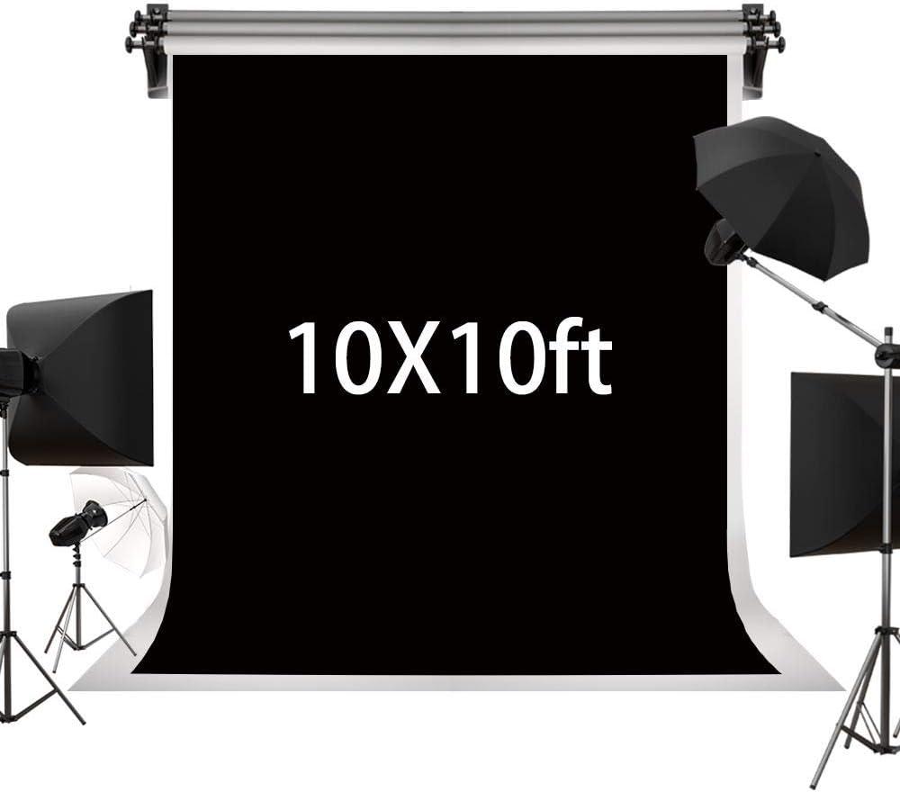Kate 3×3m Solid Black Backdrop Portrait Background for Photography Studio