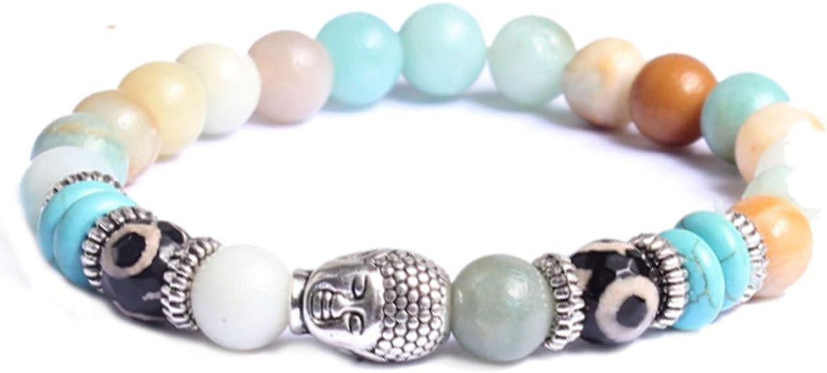 Piedra Pulsera de Yoga Pulsera de Energ/ía con Perla para Damas y Caballeros