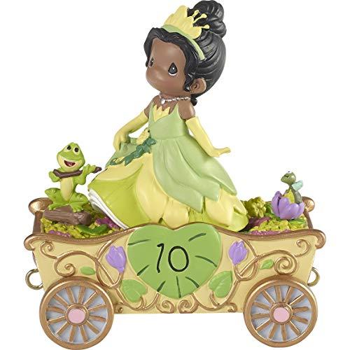 Precious Moments 193451 Disney Showcase Birthday Parade Tiana Double Digit Dreams Figurine, One Size, Multicolor