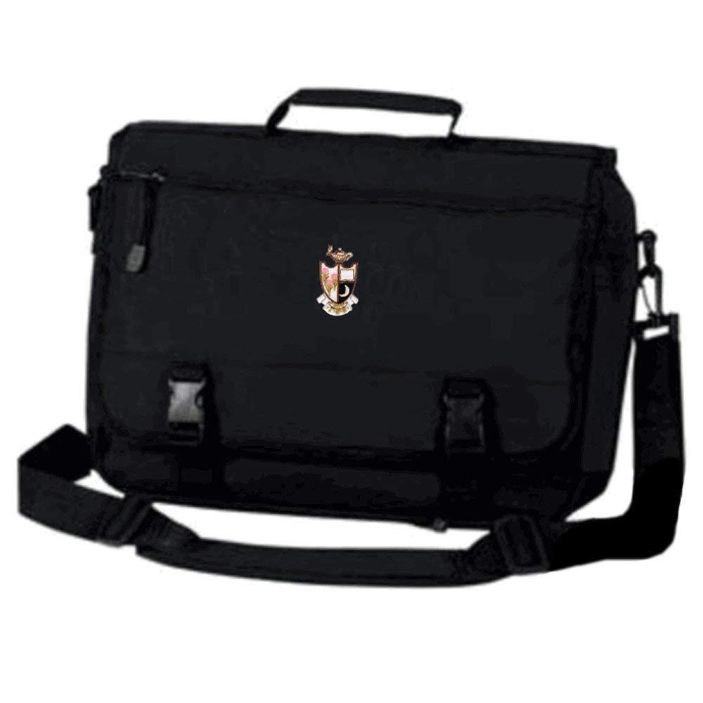 Greekgear Gamma Phi Beta Emblem Briefcase Black