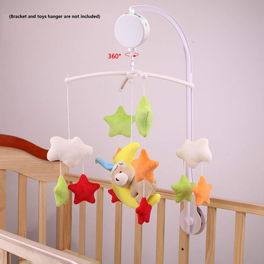 Dreamtop Baby Crib Baby Bedding Rotary Musical Mobile Plays 12 Tunes Battery-operated with Micro SD Card
