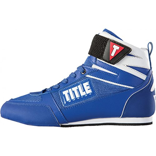 Title Box-Star Incite Elite Boxing Shoes, Blue/White, 13