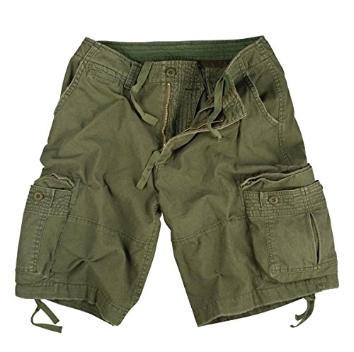 Rothco Vintage Infantry Shorts, Olive Drab, 2X